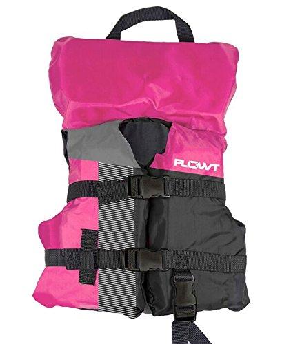 (Flowt 40310-2-INFCLD Multi Sport Life Vest, Type II PFD, Heads Up Pillow, Grab Strap, Leg Strap, Infant / Child, Pink, Fits 0 - 50 lbs.)