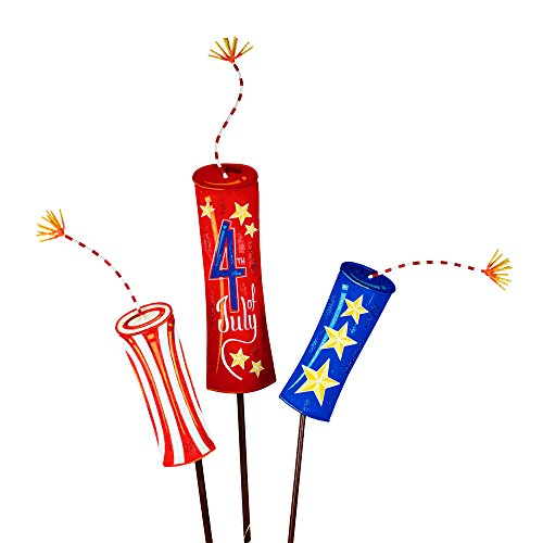 (The Round Top Collection Firecrackers of Fun-Set of 3 - Metal )