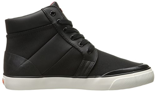 Polo Ralph Lauren Mens Isaak Nylon Fashion Sneaker Nero / Rosso