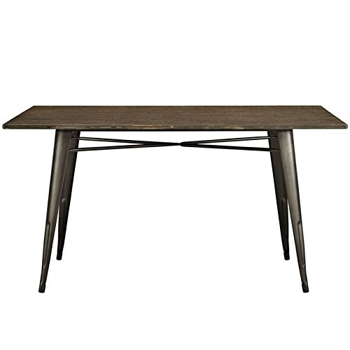 Modway Alacrity Rectangle Wood Dining Table, Brown, 59''