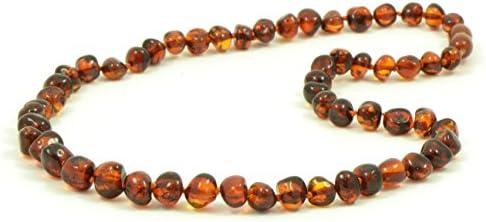 Halskette Baltischer Bernstein für Erwachsene – 45 cm – Handarbeit aus zertifizierten Baltischer Bernstein Perlen