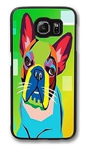 dog art Custom Samsung Galaxy S6/Samsung S6 Case Cover Polycarbonate Black wangjiang maoyi