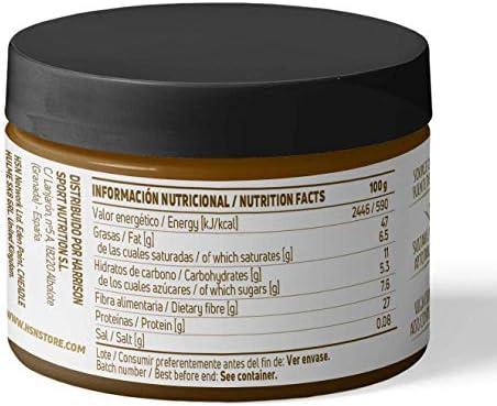 Crema de Cacahuete de HSN | Peanut Buter | 100% Natural Snack Saludable | Fuente de Fibra + Proteínas Vegetales + Ácidos Grasos Esenciales | Vegano, ...