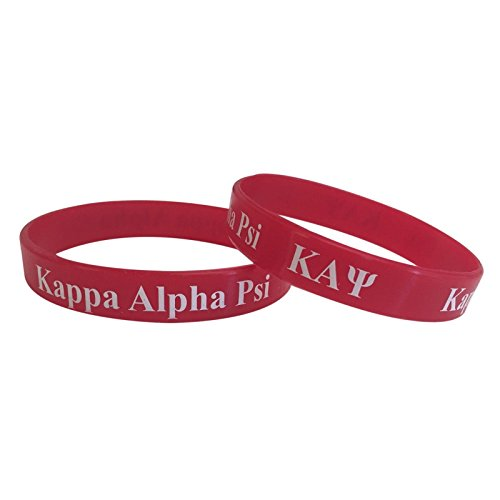 Kappa Alpha Psi Red Silicone Bracelet (SG) NUPE