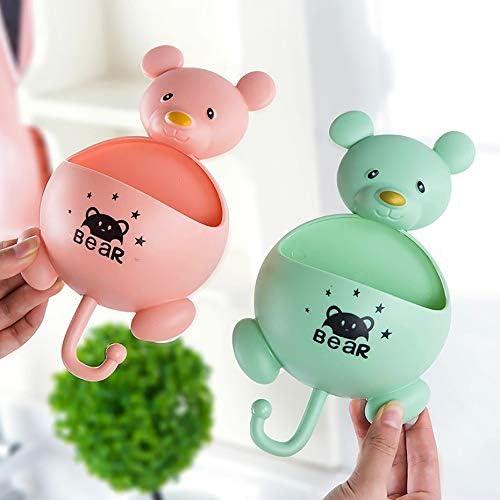 creativa scatola per sapone da bagno Scatola portaoggetti per sapone di bagno di aspirazione porta sapone colore: verde tende da parete motivo: topi