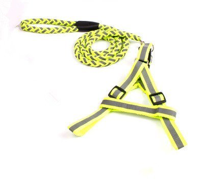 TLMY Pet Reflective Braided Traction Rope Dog Chain Chest Strap Pet Chain (color   Yellow, Size   L)