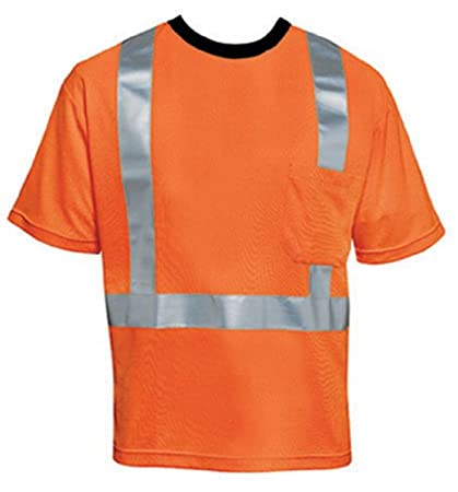 Liberty HiVizGard Polyester Open Weave Mesh Class 2 T-Shirt with 2 Wide Silver Reflective Stripes and 1 Pocket Liberty Glove & Safety
