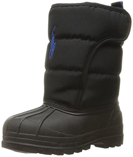 Polo Ralph Lauren Kids Boys' 993534 Snow Boot, Black, 8 M US - Toddler Boots Ralph Polo Lauren
