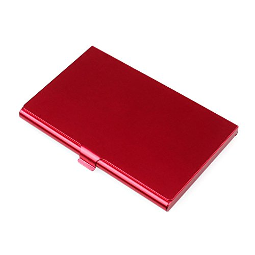 Sonmer Creative Aluminum Holder Metal Cover Credit Business Card Wallet (Red)