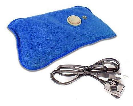 Bolsa agua caliente electrica azul recargable dolor muscular espalda 600 Watt