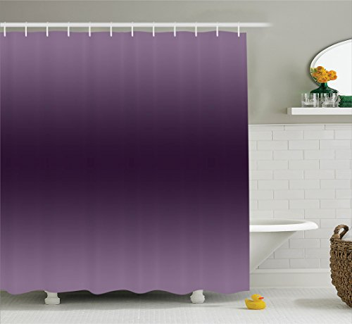 Ambesonne Ombre Shower Curtain, Hollywood Glam Show Inspired Color Ombre Design Digital Printed Room Decorations, Fabric Bathroom Decor Set with Hooks, 75 Inches Long, Purple -