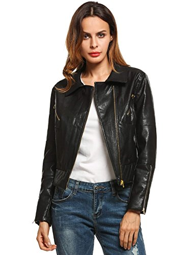 Ladies Leather Bike Jacket - 7