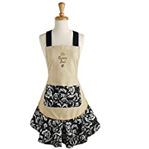 Queen Bee Embroidered Kitchen Apron