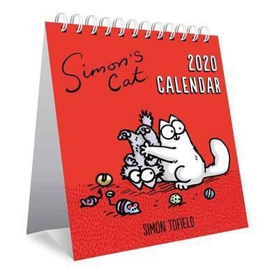 Calendario 2020 con caballete de gato Simon + imán para nevera de ...