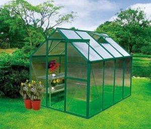 Earthcare Basic 6 x 8 Backyard Greenhouse Kit Amazoncouk Garden