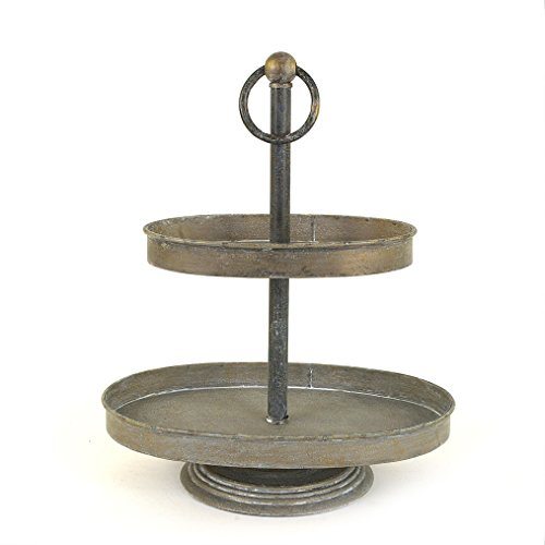 Creative Co Op Oval Metal 2 Tier