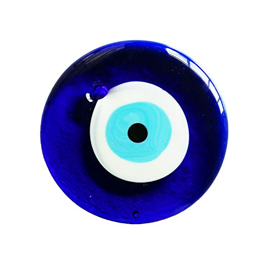 Sumje Big 4.7inch / 12cm Glass Turkish Evil Eye Charm Wall Hanging Great Weeding Favors Car Home Decoration- Lucky Eye Decor Protection & Good Luck ()