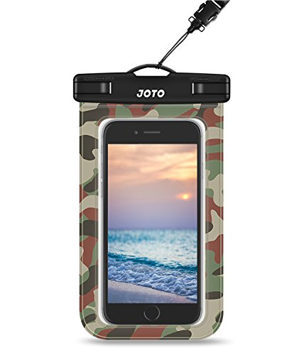 Universal Waterproof Case, JOTO Cellphone Waterproof Case Dry Bag Pouch for Apple iPhone 6S 6,6S Plus, 7 SE 5S, Samsung Galaxy S7 S6, Note 5 4, HTC LG Sony Nokia Motorola up to 6.0 Diagonal (Camo)