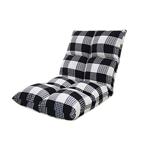 - XHLXHL Folding Lazy Sofa Chair, Lazy Sofa, Lattice Series Floor Chair Foldable Back Support Rectangular Small Sofa Bay Window Chair 52 × 52 × 55cm, Four Colors Optional (Color : Black)