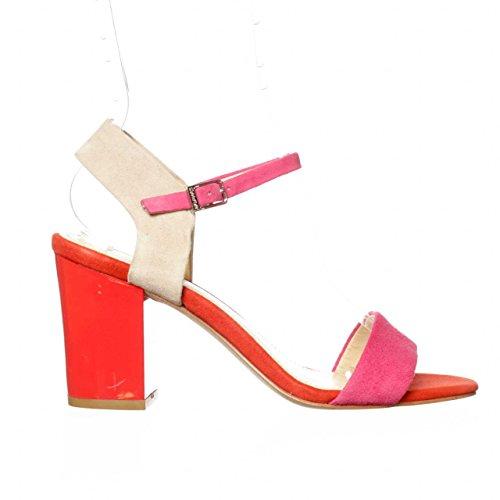 Calvin Klein Verla Pink Open Toe Pump Women Size 8 M