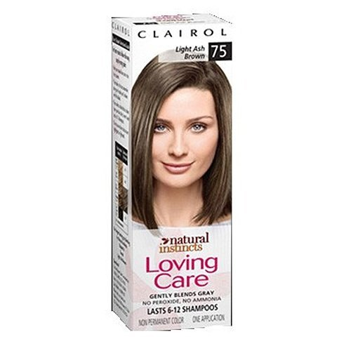 Clairol Clairol Natural Instincts Loving Care Color 75 Light Ash Brown, 1 box.
