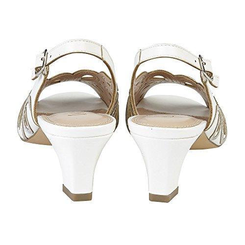 Lotus White Marianna Open-Toe Sling-Back Shoes White j4sdah