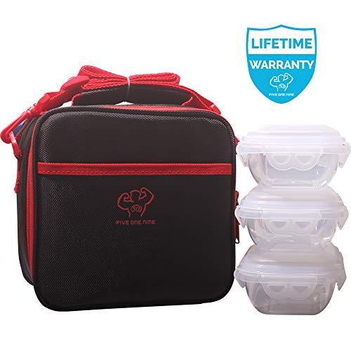 [해외]519 Original Lunch BagDurable and Spacious Lunch Box for Men Women Girls Boys AdultsLong-term Insulation Lunch Bag for WorkPicnicHiking - 3 FDA Meal Containers Include(Black) / 519 Original Lunch Bag,Durable and Spacious Lunch Box ...