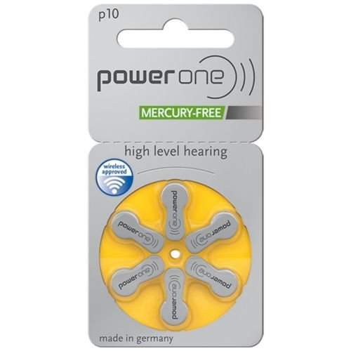 PowerOne Hearing Aid Batteries Size 10, PR70 (60 Batteries) + Battery Keychain Kit