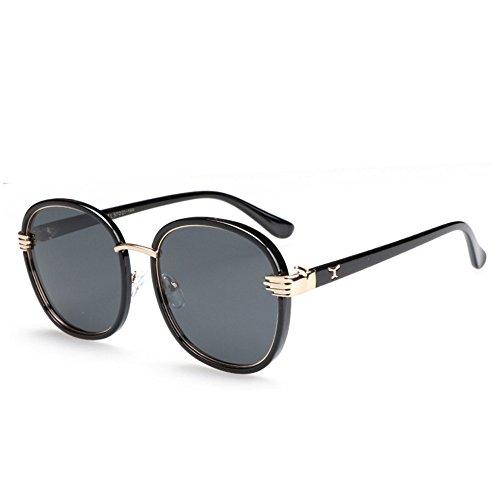 femmes soleil et lunettes ronde soleil métal polarisées protection de Mode uv400 pare de Black GAOLIXIA qualité hommes haute lunettes de classiques soleil qt8Zz4