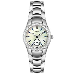 Bulova Women's 96R55 Diamond Accented Mother Of Pearl Watch