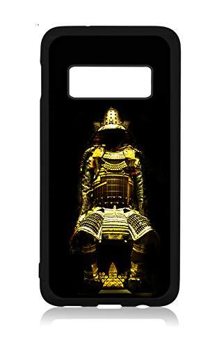 (Samurai Japanese Warrior Design Black Rubber Case Cover for The Samsung Galaxy s10 Plus / s10+ / s10P - Samsung Galaxy s10 Plus Accessories - Samsung Galaxy s10 Plus)