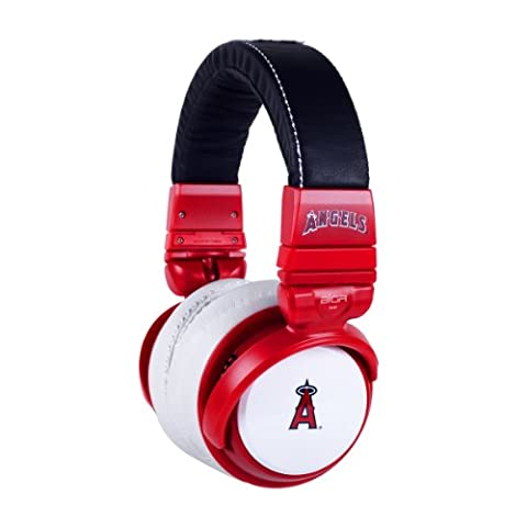 BiGR Audio MLB Licensed Over-ear Headphones with Mic, Los Angeles Angels (Bigr Audio Cable)