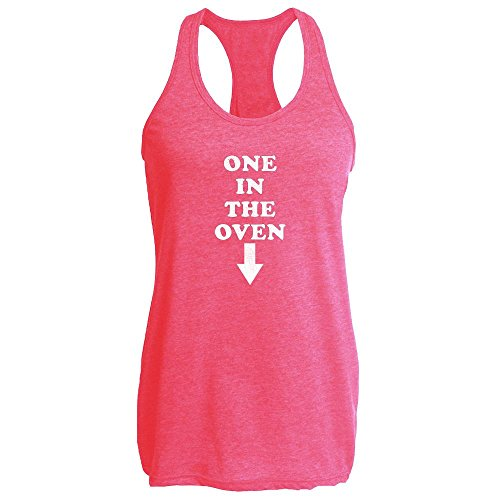 Pop Threads One In The Oven Heather Fuchsia L Womens Tank Top (In 1 The Oven)