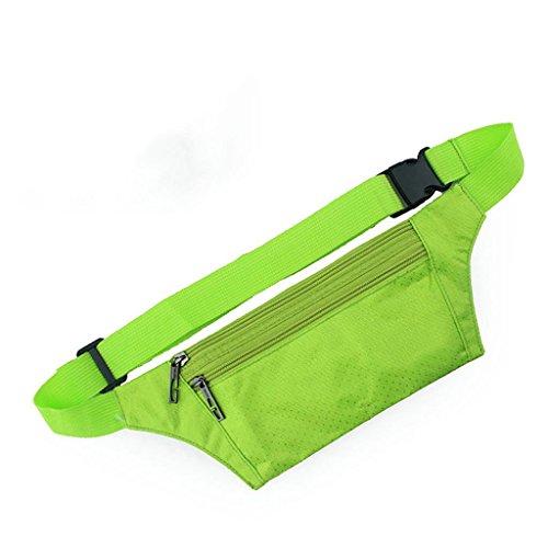 TRRE Männer und Frauen Sport Gürteltasche unsichtbaren Sicherheits persönliche, Grün, L21cm * H12 cm Lauf