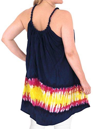 La Leela lâche sundress chaise longue, plus la taille Beachwear couverture bikini turquoise ups féminin