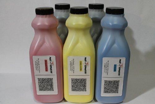 Gestetner Color Printers - NE IMAGE - 5 Color Toner Refill Kit + 5 Reset Chips for Ricoh Aficio (820000, 820024, 820016, 820008) for SP C 811DN, Gestetner C7640ND, Lanier LP440C, Savin CLP240D Printers