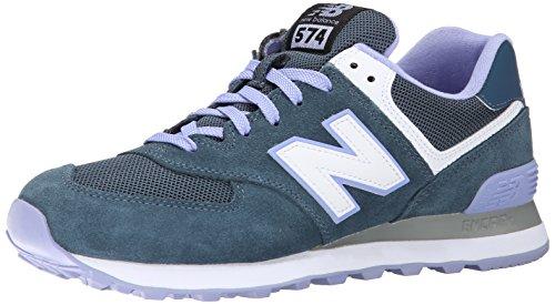 New Balance Women's WL574 Core Plus Collection Running Shoe, Blue/Purple, 5.5 B US