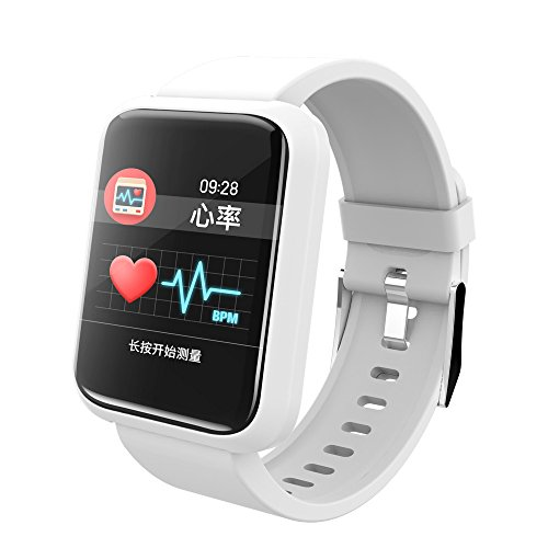 Sport 3 Smart Watch, Heart Rate Blood Pressure Monitor Waterproof Bracelet USB Digital Watch (White)