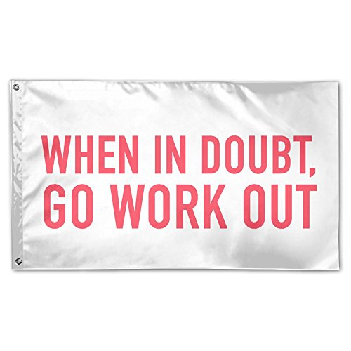 Garden Flag When In Doubt Go Work Out 3x5ft Home Yard Flag Wall Banners Decoration by YS25