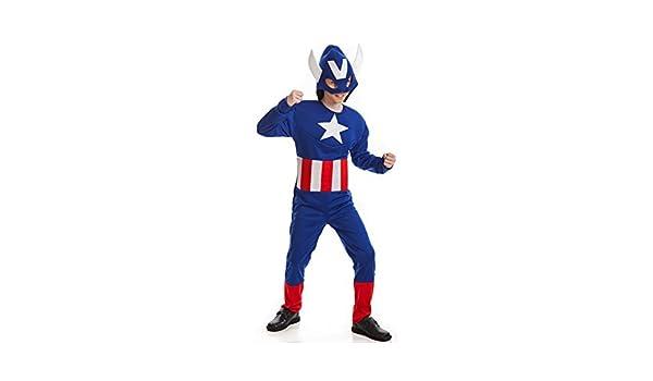 Disfraz de Superhéroe Americano para niño: Amazon.es: Juguetes y ...