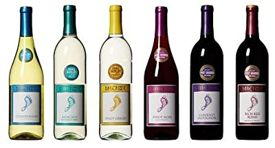 Barefoot Cellars California Sampler Wine Mixed Pack, 6 x 750 mL from Barefoot Wine & Bubbly