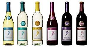 Barefoot Cellars California Sampler Wine Mixed Pack, 6 x 750 mL