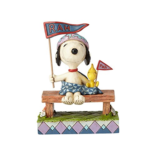 Enesco Peanuts by Jim Shore Snoopy and Woodstock Bleacher Buddies Figurine, 4.25