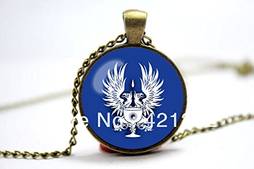 Pretty Lee 2015 Fashion Dragon Age Origins Grey Warden Commander Emblem Inspired Glass Cabochon Dome Pendant Necklace Christmas (Inspired Dome)