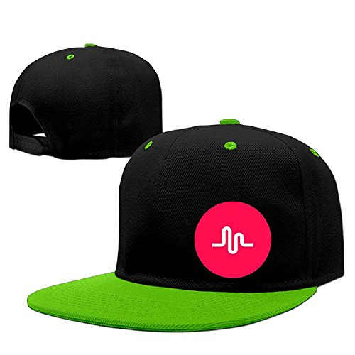Musically Red Round Unisex Adjustable Baseball Hats Hip-Hop Caps