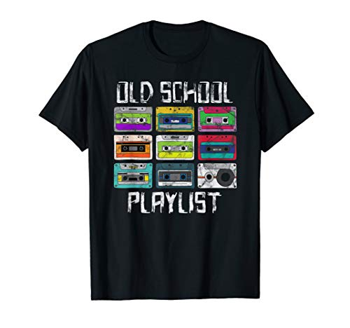 Cassette Tape Music T-Shirt Retro 80s Old School Playlist