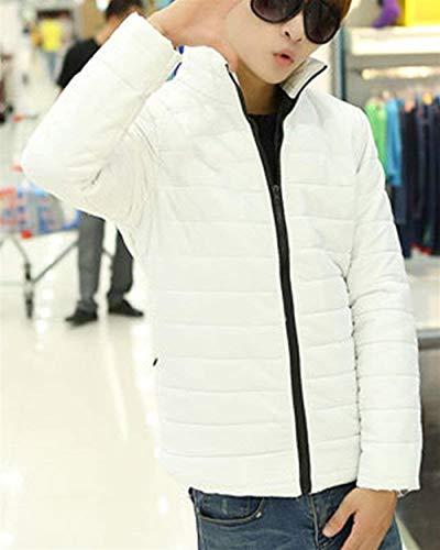 Unico Packable Parka Cappuccio Giù Piedi Manica Inverno Bianco Lunga Rivestimento Caldo Posti Trapuntato Uomo Da Ultraleggero Del Collare In 8vqPpxzwax