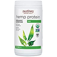Nutiva Organic Cold-Pressed Hemp Seed Protein Powder, 15G Protein, 16 Ounce