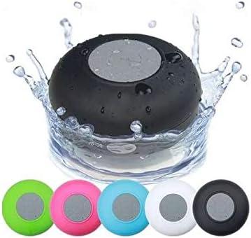 Altavoz Impermeable con función Bluetooth y micrófono, Ventosa para Todo Tipo de Paredes, para Hablar por teléfono o Escuchar música, por Ejemplo, bajo la Ducha.
