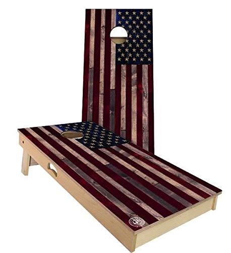 特価商品  Skip's A. Garage アメリカ国旗 素朴なコーンホールボードセット Filled - サイズとアクセサリーをお選びください Filled - ボード2枚 バッグ8枚 B07N496MQQ A. 2x3 Boards (Corn Filled Bags)|D.付属品 (1) スコアタワーコンボ A. 2x3 Boards (Corn Filled Bags), BAR TOKYO:24c1480f --- staging.aidandore.com